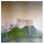 Duffus Castle, 2016 (mixed media on paper)