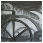 Mill Machinery, 2011 (charcoal on paper)